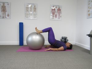 gym ball hamstring curl