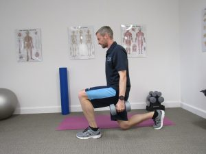 Lunge - strength training for runners